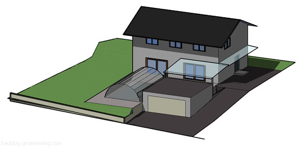 3D-Ansicht vom Haus