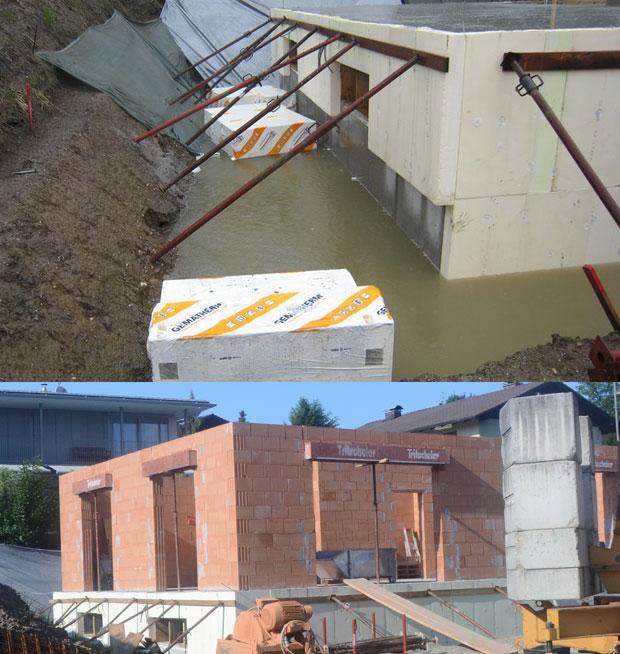 Hochwasser und Erdgeschoß