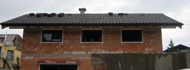Aussenansicht mit Dach