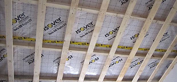 Streuschalung im Dach